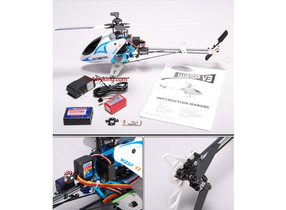 Wasp V3 Belt Gedreven R / C helikopter (nieuwe versie)