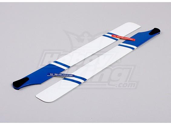 430mm Houten Main Blades (Blauw / Wit)