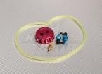 Alloy CNC Brandstoftank / vuldop met hulpstukken, pijp & filter