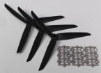 Hobbyking ™ 3-Blade Propeller 7x3.5 Black (CCW) (3 stuks)
