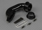 16mm Exhaust Header (zwart)