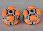 40x28mm Plastic Omni Wiel (2Pcs / Bag)