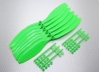 GWS EP Counter Rotating Propeller (RD-1180 279x203mm) groen (6pcs / set)