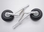 Alloy Oleo Strut Set met wielen en rubber banden (104mm lengte, 4mm Montage Pin)