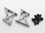 10/01 Aluminium CNC Tail / Wing Ondersteuning Frame-Small (Titanium)
