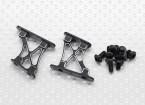 10/01 Aluminium CNC Tail / Wing Ondersteuning Frame-Small (zwart)