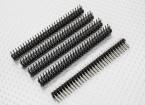 Straight Pin Header 2 Row 30 Pin 2.54mm Pitch (5PCS)