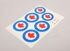 Schaal Nationale Insignes van de Luchtmacht Sticker Sheet - Canada