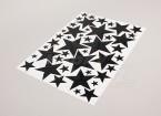 Star Zwart / Wit Diverse Maten Decal Sheet 425mmx300mm