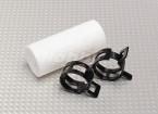 Teflon Koppeling met clips (22mm Pipe) voor Muffler