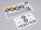 Durafly ™ Supermarine Spitfire Mk 24 - Vervanging Sticker