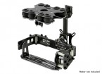 Schokabsorberende 2 Axis borstelloze Gimbal Kit voor Card Type Camera's - Glasvezel Version