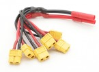 HXT 4mm naar Six XT60 Female Power Distribution Lead voor Multi-Rotor
