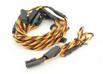 Twisted 30cm Y Servo Leads (JR) 24AWG (5pc)