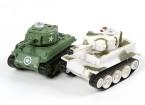 Infrarood Controle Micro Combat Tanks Set (M4 Sherman & Duitse Tiger 1)