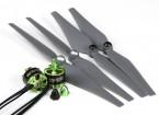 MultiStar 350-450 Frame Size 2212 Combo set met Self-Aanscherping Propellers CW / CCW Set Van 2
