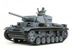 Panzer III Ausf.L (grijs) RC Tank RTR w / Airsoft & Tx (EU stekker) (EU Warehouse)