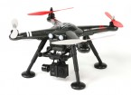 XK Detect X380-C 2,4 GHz Quad GPS-Copter Mode 2 w / HD Action Cam en 2-Axis Gimbal (RTF) UK Plug
