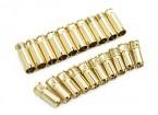6mm Supra X Gold Bullet Connectors (10 paar)