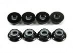 Aluminium Flens Low Profile Nyloc Moer M5 Black (CCW) 8 stuks