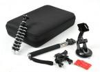 Gebundelde Action Cam accessoires voor Turnigy Action Cams of GoPro (14pcs)