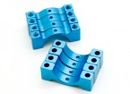 Blauw geanodiseerd CNC Halve cirkel Alloy Tube Clamp (incl.screws) 12mm