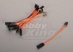 10CM Servo Lead (JR) 32AWG Ultra Light (10st / bag)