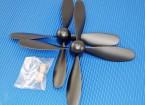 Hobbyking ™ 4-Blade Propeller 7x3.2 Black (CCW) (1 st)