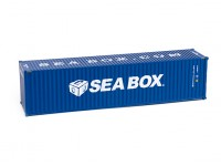 HO Scale 40ft Shipping Container (Seabox  Blue)