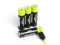 Znter 1.5V 1250mAh USB Rechargeable AA LiPoly Battery (4pcs)