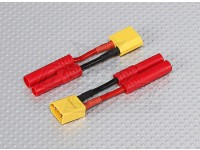 XT-60 tot HXT 4mm Battery Adapter Lead (2pc)