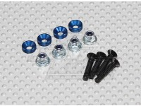 Color Servo Montage Screw Set (blauw)