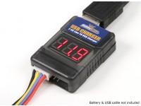 HobbyKing ™ LIPO naar USB opladen Adapter en Cell Checker (2S ~ 6S)