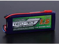 Turnigy nano-tech 1500mAh 2S1P 20 ~ 40C Lipo Receiver Pack