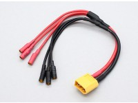 XT60 tot 3 X 3,5 mm kogel Multistar ESC Macht Breakout Cable
