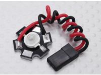 Super Bright 3 Watt Rode LED Lamp met Aluminium Heatsink