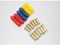6mm RCPROPLUS Supra X Gold Bullet Gepolariseerde connectoren (6 paar)