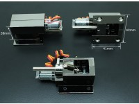 Turnigy Delux Injection Alloy Full Metal Servoless 90 graden Zet vrij (5 mm pin)