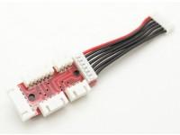 Adapter board voor 2S-6S LiPoly Accu's met JST-XH Balance pluggen