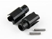 Basher RZ-4 1/10 Rally Racer - Receptie Solid Axle Spool voorbijstreven - Steel (2 stuks)
