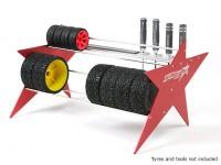 TrackStar 10/01 en 1/8 Tire Rack