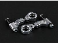 Actieve Hobby Tamiya TT-02 Aluminium verstelbare voorstoelen bovenarm (gepolijst)