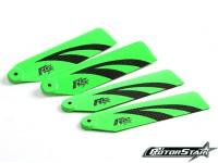 110mm RotorStar Assault Reaper 500 Premium 3K Carbon Fiber Blades - Green (2 paar)