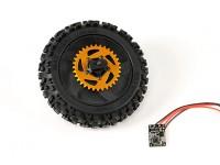 Rear Wheel w / All Parts gemonteerd - Super Rider SR4 SR5 1/4 Schaal Brushless RC Motorcycle