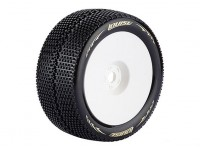 LOUISE T-TURBO 1/8 Scale Truggy Banden Super Soft Compound / 1/2 Offset / White Rim / Mounted