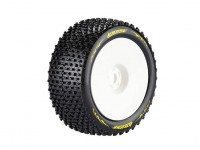 LOUISE T-PIRATE 1/8 Scale Truggy Banden Super Soft Compound / 1/2 Offset / White Rim / Mounted
