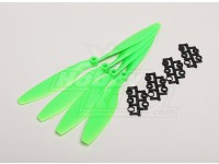 GWS Style Slowfly Propeller 10x4.5 Green (CW) (4 stuks)