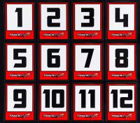Trackstar Racing Number Decals (2 Sheets)