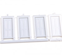 Micro Engineering HO Scale 4 Panel Doors 4pcs (80-063)
