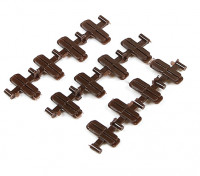 Micro Engineering HO Scale Code 83 Plastic Insulated Rail Joiners 12pcs (26-084)